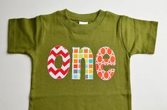 Ready to Ship Boys One Shirt First Birthday by TheColorfulYears, $28.00