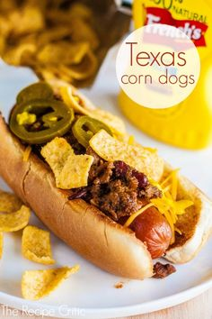 Texas Corn Dogs  ☀CQ #appetizers #tailgate  #football #recipes