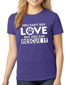 Purple 'You Can't Buy Love' Crewneck Tee #zulily #zulilyfinds