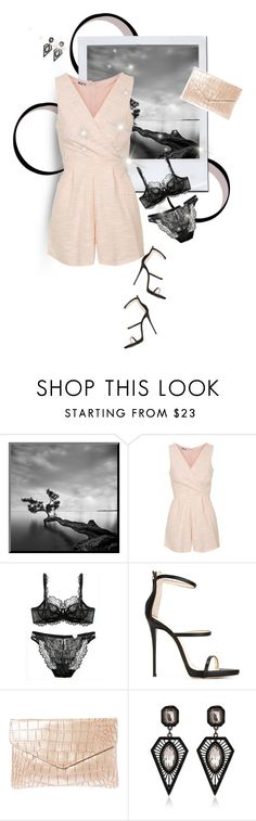 """Street style"" by janemichaud-ipod ❤ liked on Polyvore featuring Topshop and Giuseppe Zanotti"