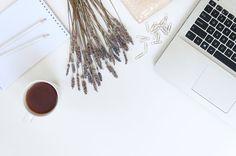 Lavender workspace by White Nova Studio on @creativemarket