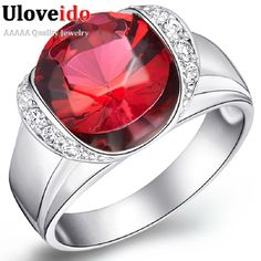 Find More Rings Information about Charms Rings for Women Silver 925 Bridal Wedding Ring with Stones Royal Blue/Red Zircon Jewelry Gifts for Women J124 Uloveido,High Quality jewelry 3d,China jewelry cage Suppliers, Cheap jewelry hebrew from Uloveido Official Store on Aliexpress.com