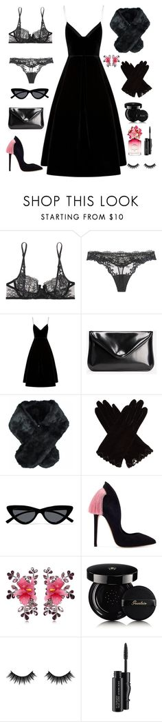 """Black is always a good idea."" by ytopia on Polyvore featuring мода, La Perla, Maison Margiela, Jeanne Simmons, AGNELLE, Le Specs, Dsquared2, Guerlain, Morphe и MAC Cosmetics"