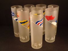 Barware Collection - LIBBEY - NAUTICAL FLAF - TOM COLLINS GLASSES