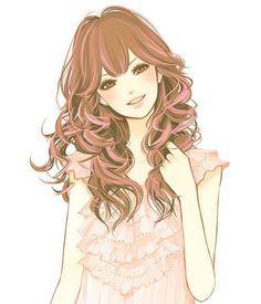Девушка с голубыми глазами и русыми волосами аниме