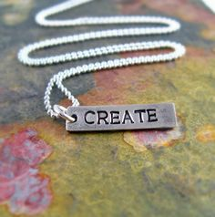 Create Silver Necklace Artist Necklace Gift for by newhopebeading, $35.00