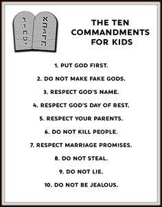 Teaching Kids The Ten Commandments | Teaching | Preschool