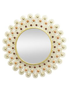 Beaded Wall Mirror by Three Hands at Gilt