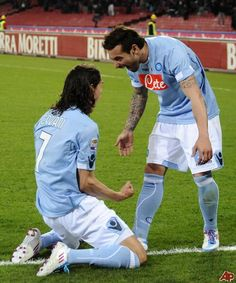 Cavani and Lavezzi, I <3 Napoli