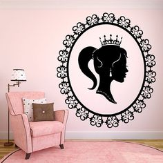 Wall Room Decor Art Vinyl Sticker Mural Decal Pattern Poster Sweet Pretty Interior Nursery Girl Kids Pictures Crown Princess Queen New F2127