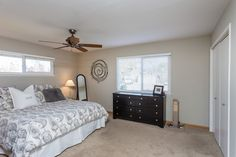 A spacious master suite with windows on two sides is a great place to start the day!
