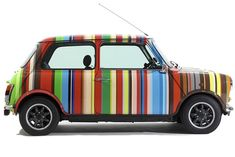 Painted with 86 stripes in 24 colors, Paul Smith's eye-popping, one-of-a-kind Mini Cooper has been turning heads since it was unveiled at the 1997 Tokyo Motor Show. Now, it's back in Asia, where it's on display at the Hilton Singapore until April 20.