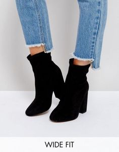 ASOS ELABORATE Wide Fit Sock Boots