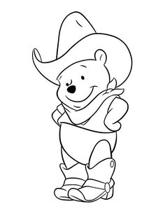 Winnie The Pooh Cowboy Coloring Page