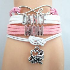 Infinity Love DANCE MOM Bracelet Customize CHEER Wristband friendship Bracelets  TayTays Treasure