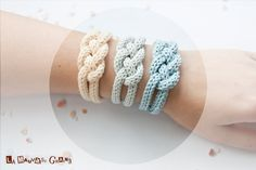 "French knitted cotton bracelet - ""rising sun"". €8,80, via Etsy."