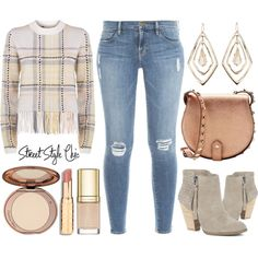 A fashion look from December 2015 featuring Chloé sweaters, Frame Denim jeans and Sole Society ankle booties. Browse and shop related looks.