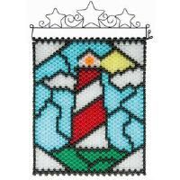 Herrschners® Lighthouse Stained Glass Beaded Banner Kit