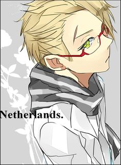 Willem (head-canon name for Netherlands) - Art by はぐしょん (formerly on Pixiv)