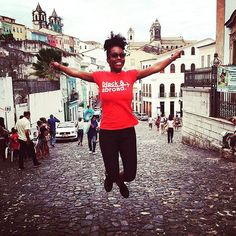 It's all about those travel moments that make you jump for joy! @iam_tondalinsey is #blackandabroad while in the streets of Salvador de Bahia Brazil. #brasil #brazil #salvador #bahia #salvadordebahia #BlackGirlsRock #BlackTravel #ExploreEmbraceEmpower