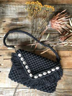 Black macramé bag Handmade in Sydney SOLD OUT Macrame Bag, Sydney, Crochet Necklace, Shoulder Bag, Handmade, Diy, Bags, Handbags, Hand Made