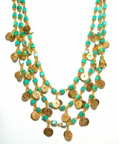 Gold and turquoise--summer chic perfection