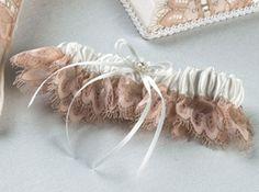 Blush Lace Bridal Garter - Wedding Garter $20.00