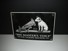 Vintage Reproduction Sign Victor His Master's by vintagehouses