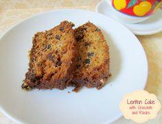 Lenten Cake with Chocolate and Raisins!!!! #cake #chocolate #easy #recipe #dessert #coffee #raisins