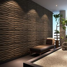 x Plant Fiber Wall Paneling in Primiti - Murales Pared Exterior 3d Textured Wall Panels, Decorative Wall Panels, 3d Wall Panels, Labyrinth Design, 3d Wandplatten, Accent Wall In Kitchen, Brick Wall Wallpaper, Wall Panel Design, Plant Fibres