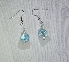 Sea glass earrings - Aqua mother of pearl earrings.Eco friendly gift for her. Sea Glass Necklace, Glass Earrings, Sea Glass Jewelry, Pendant Earrings, Ring Earrings, Mother Of Pearl Earrings, Matching Necklaces, Ring Bracelet, Jewelry Sets