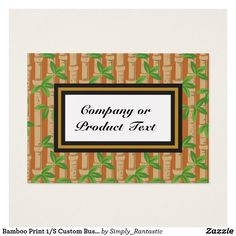 Bamboo Print 1/S Custom Business/product card