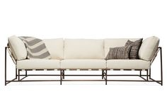 Natural Canvas & Antique Copper Sofa from The Inheritance Collection by Stephen Kenn.