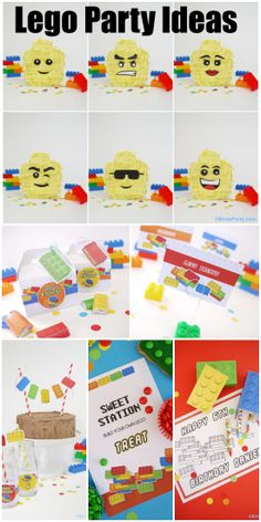 Here's a great collection of Lego birthday party ideas. Love the Lego party printables! See more party ideas at CatchMyParty.com.