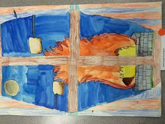 5th Grade Creative Process - Watercolor and Colored Pencil - Looking Glass - Unique Project - Individual Projects - Technique