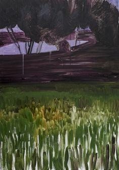 """Mykolé, """"Landscape 3"""", 2012, 162 x 114 cm  Oil, canvas. Contemporary landscape paintings."""
