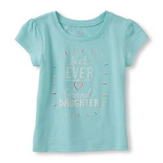 Place Shops Toddler Short Sleeve 'Best Ever Granddaughter' Graphic Tee - Green T-Shirt - The Children's Place