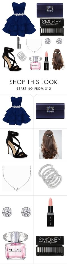 """""""Homecoming"""" by gurrapu-viraja ❤ liked on Polyvore featuring Roger Vivier, Imagine by Vince Camuto, ASOS, Minnie Grace, Cole Haan, Smashbox, Versace and Chanel"""