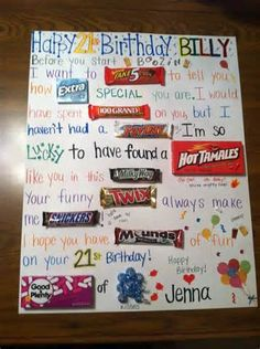 Candy Gram Birthday Card For Boyfriend Grams Posters