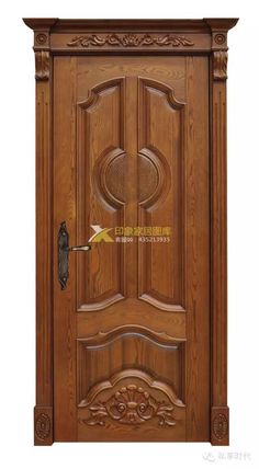 966759 Wooden Door Entrance, Doors Interior Modern, Door Gate Design, Wooden Main Door Design, Wooden Door Design