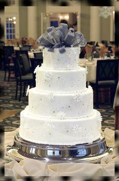 Nice winter wedding cake