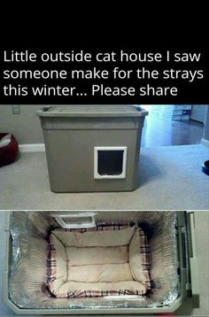 Outside cat house for strays this winter Tap the link Now -  Luxury Cat Gear - Treat Yourself and Your CAT!  Stand Out in a Crowded World!