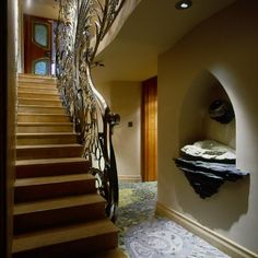 Harlech House stairs