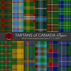 Canadian tartans / Maple Leaf / Alberta by CornucopiaArtDesign Tartan Decor, Wallace Tartan, I Am Canadian, Canadian Quilts, Celtic Clothing, Tartan Kilt, Canada 150, Book Images, Photography Projects
