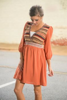"""Pumpkin Carvin' Dress, Orange"""
