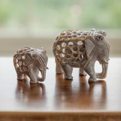 Ideal gift for an elephant lover. Charmed Characters, Jungle Room, Soapstone, Modern Retro, Hand Carved, Lion Sculpture, Artisan, Arts And Crafts, Carving