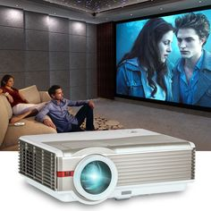 Home Theater Hd Projector Tv Video Big Screen Backyard Movie Hdmi Usb 5000lumens