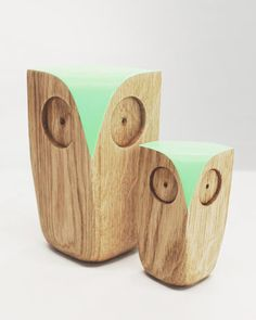 Owls | Oak | White | Matt Pugh Design