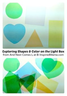 Making Kids Light Box Manipulatives [Contributed by And Next Comes L] - B-Inspired Mama Toddler Learning, Preschool Learning, In Kindergarten, Preschool Activities, Sensory Tools, Sensory Bins, Diy Light Table, Kids Lighting, Learning Letters