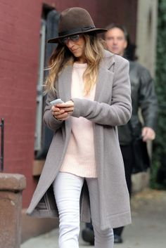 """The A-List! NYC's 20 Best-Dressed Celebs #refinery29 Though her twin daughters are taking some of the style spotlight away from her, SJP still knows a good """"strutting the sidewalks of Manhattan"""" outfit when she sees one. This cozy fall wardrobe is effortless, yet impeccable. We kind of want to wear it now!"""